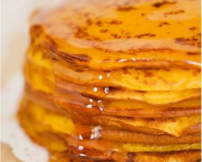 Sweet morning * Pancakes au potiron & au miel *