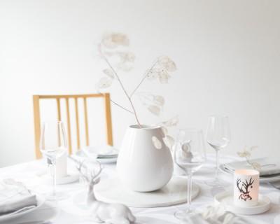 Ma table de fête en blanc avec le Jacquard Français