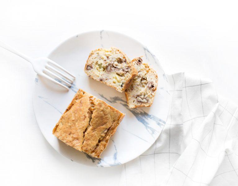 Cake sans gluten haricots fourme noix cumin